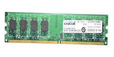 Crucial 1 GB mt16htf25664ay-667g1 5300 2RX8 PC2 5300U 555 13 E0 DDR2 667 CL5