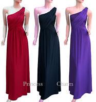Black Purple Red Formal Evening Dress 1 Shoulder Plus SZ 28 26 24 22 20 18 16 14