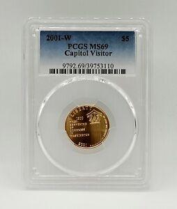 2001 W - $5 - Capitol Visitor Center -  Commemorative Gold Coin - PCGS MS69