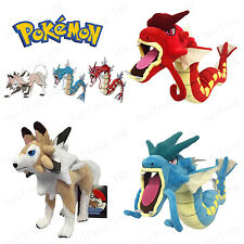 Pokemon Go Gyarados And Lycanroc Plush Soft Teddy Stuffed Dolls Kids Toy