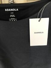 New listing Womens Adanola Black Cropped Gym Top With Cut Out Detail  Size  Large BNWT