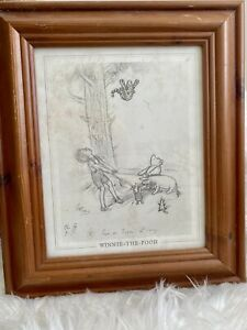 Winnie The Pooh 'Come On Tigger Its easy' Pencil Drawing E.H. Reproduction