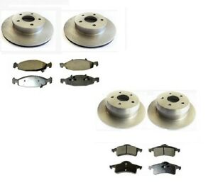 SET FRONT & REAR BRAKE DISCS & PADS FOR JEEP GRAND CHEROKEE 99-01 FRONT TEVES