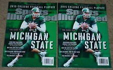 2015 MICHIGAN STATE SPORTS ILLUSTRATED ERROR + CORRECTED SI MARK DANTONIO MSU !!