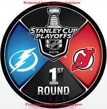 Tampa Bay Lightning vs New Jersey Devils 2018 Stanley Cup Playoffs Hockey Puck