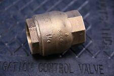 """Nibco T-480 1.25"""" Bronze Ring Check Valve Inline Lift Type Resilient Disc 1-1/4"""""""