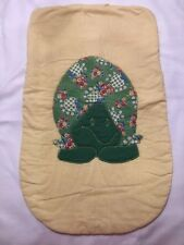 Vintage 1970's Baby Seat Cover With Turtle