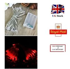 4 Meters RED Battery Powered Fairy String Light 40 LED Christmas Tree Party UK