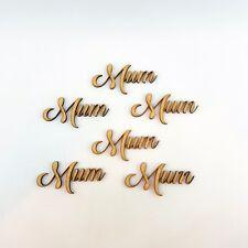 Mum Word Cutout 5 pack MDF Laser Cut Wooden Craft Blank Family Tree Scrapbook