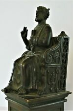 â� Bronze Antique Figure Sitting On Throne. Guessing It's St. Peter