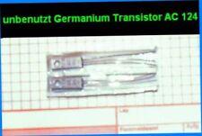 NEU 2xAC124 PNP 45/32V 1(2)A Germanium NF Endstufen Leistungs Transistor KK