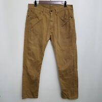 Levis Mens 505 Jeans 34x30 Brown 100% Cotton Straight Leg Denim
