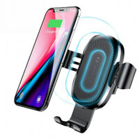 Car Mount Qi Wireless Charger Fast Charging Air Vent Holder For Samsung iPhone X