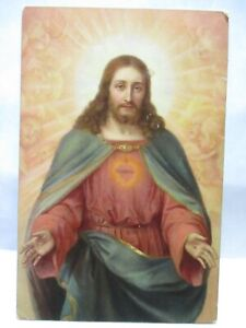 1910 POSTCARD HOLY HEART OF CHRIST, SACRED HEART
