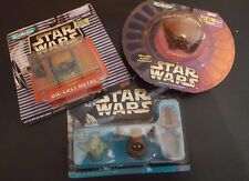 Set of 3 Star Wars Micro Machines Toys Tie Fighter Jawa Sand Crawler Yoda