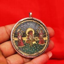 Vintage Amulet Pendent Silver Hindu Tribal Lord God Ganesha Original 3481