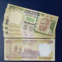 Vintage India 500 Rupees Banknote Gandhi P-99 Reddy Singnature 2006 - R Inset