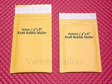 New listing 40 Kraft Bubble Envelope Combo ~ 4x8 & 4x6 ~ Self-Sealing Padded Mailers