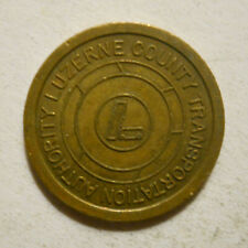 Luzerne County Transp. Auth. (Wilkes Barre, Pennsylvania) transit token - PA985K