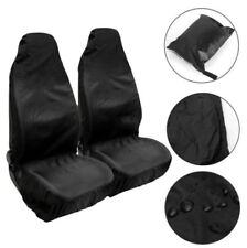 2xBlack Universal Car Front Seat Covers Seat Protector Stains Dirt Protect Cover