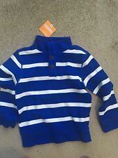 NEW! Gymboree Orbit Blue Striped Pullover Sweater Top NWT, Size 4