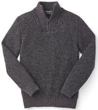 Filson Zip Neck Sweater Black 100% Irish Wool, Men's S NWT MSRP $225