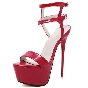 Damenschuhe Pumps High Heels Schnür Plateau Sexy Sandaletten Stilettos Sandalen