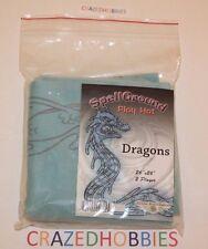 2016 SpellGround Dragons Water Dragon V4 Light Blue 2 Player Mat Playmat! N3W!!!