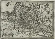 Lithuania Poland 1661 Jansson miniature map