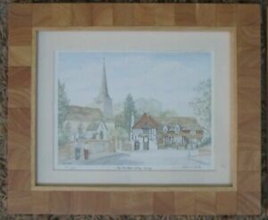 The Six Bells, Horley, Surrey, LIMITED EDITION Print - Signed by PATRICIA HALL,