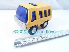 "Vintage 1970s Buddy L Lil Brutes Mini Yellow School Bus Pressed Steel 3"" Long"