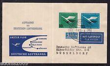 A 24 ) toller Belege 1955 - SST Wiederaufnahme des Deutschen Luftverkehrs  (II)