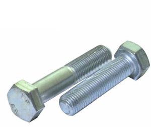 M10 x 1.25 METRIC FINE BOLTS HEX HEAD HIGH TENSILE 8.8 GRADE ZINC PLATED DIN 960