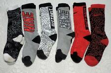 "6 PAIR (1 is new) LIGHTLY USED NIKE GIRLS SMALL SOCKS - 2 ARE ""JUST DO IT"""