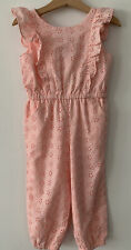 Nwt New Janie and Jack Pink Eyelet Ruffled Jumpsuit 3T Spring Easter