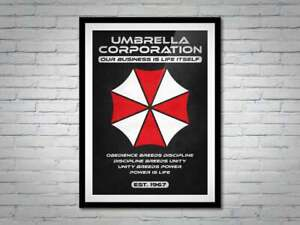 Resident Evil Umbrella Corporation Movie Poster Print - Alternative Cool Gift