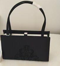 Ladies wedding bag,Black, classic Millinery,tote cluch bag,Brand new