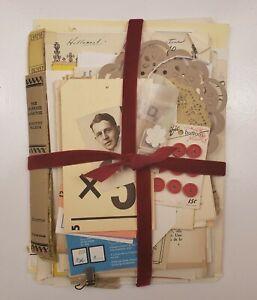 100+ Lot Old Unique Book Paper Ephemera Collage Junk Journal Altered Art #20-A