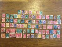 Vintage Canada Stamp Collection 1800's onwards 80 stamps some early rare QV