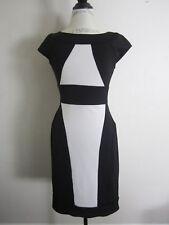Maggy London Black Ivory Color Block Sheath Dress 4