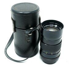 Vintage Vivitar 135mm 1:2.8 Auto Telephoto Lens - w/ Leather Case - Japan