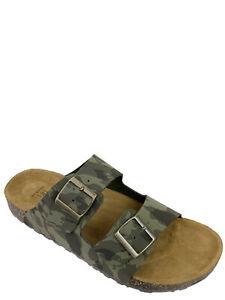 George Men's Comfort Green Camo Strap Sandals Size 11 (UW)