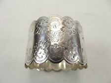 ANTIQUE SILVER NAPKIN RING HALLMARKED SHEFFIELD 1906 REF 295/3