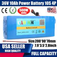 36V 10Ah Lithium li-ion Battery Pack 500W ebike  BMS Bicycle E Bike Electric USA