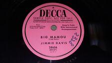 JIMMIE DAVIS Neon Love / Big Mamou 1953 PROMO EX CLEAN! 78 Decca 28656