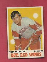 1970-71 OPC  # 155 RED WINGS TOM WEBSTER  ROOKIE  CARD