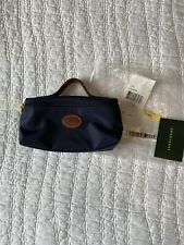 NWT Longchamp Cosmetic Case Le Pilage Navy Leather