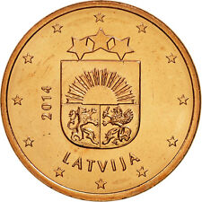 [#461587] Latvia, 5 Euro Cent, 2014, Copper Plated Steel, KM:152