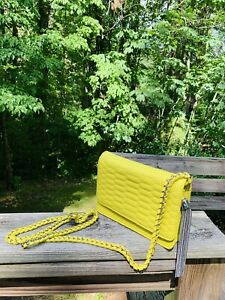nwt Aimee Kestenberg Sun Yellow Leather Shoulder Bag