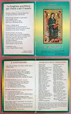 Santino Holy Card a libretto: Santuario S. Maria di Montevergine - Il Rosario